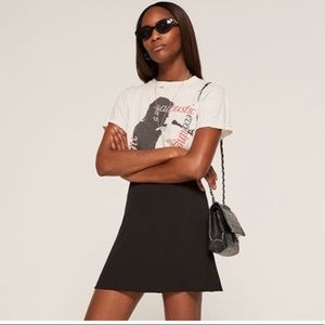 Reformation Black skirt size 0
